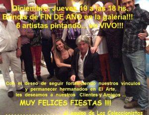 Brindis de Fin de año en LOS COLECCIONISTAS !! @ Los Coleccionistas Pintura Argentina | New York | New York | Estados Unidos