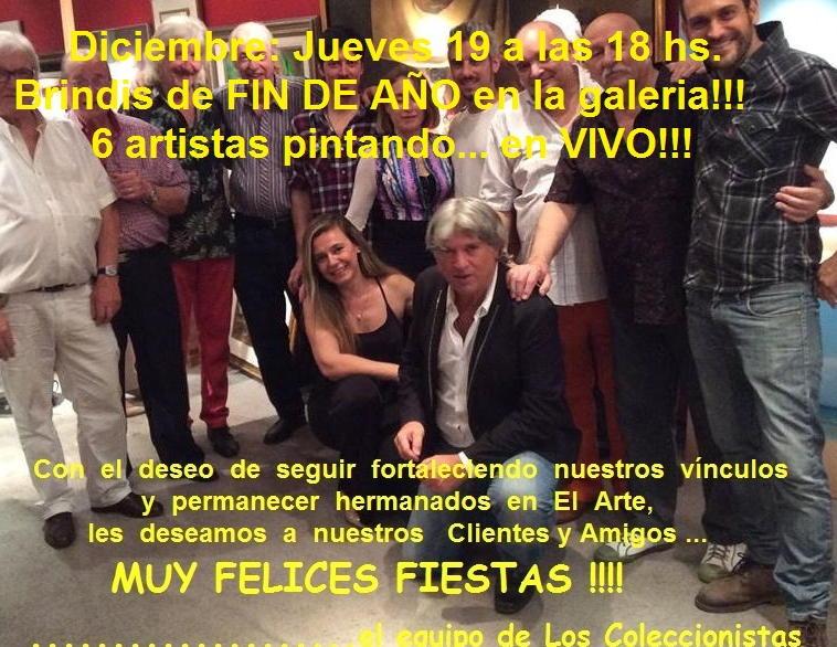 Brindis de Fin de año en LOS COLECCIONISTAS !!